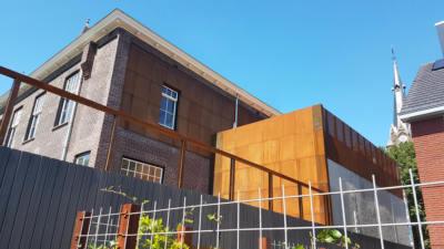 Coreten stalen gevel renovatie jozefhuis nootdorp