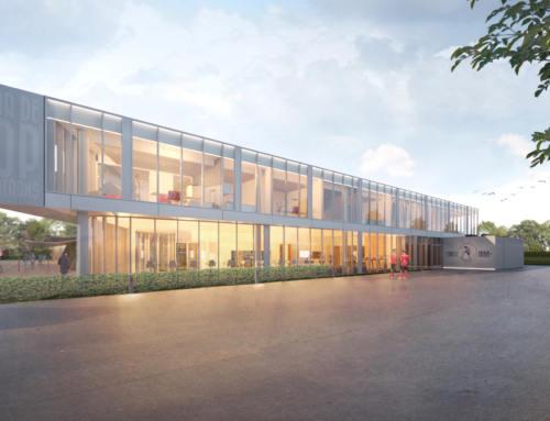 Dit is het ontwerp voor het Trainingscomplex en de Jeugdopleiding van Sparta Rotterdam